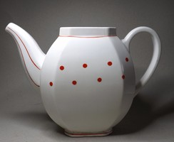 Antik Gránit  piros pöttyös tea kiöntő  érdekes darab