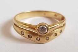 Arany 14K köves gyűrű