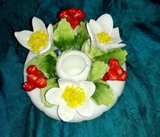 Royal porcelán kézzel készített, gyönyörű gyertyatartó.