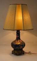 0S270 Nagyméretű réz talpas majolika lámpa 73 cm