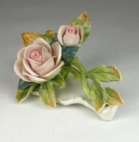0Q218 Régi ENS porcelán rózsa talapzaton
