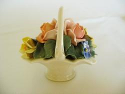 Ens Volkstedt porcelán virág kosár. Hibátlan!