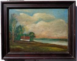 """Komáromi Kacz Endre ( 1880-1969) """" Folyópart"""""""