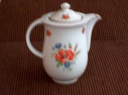 Antik hibátlan DRASCHE pipacsos porcelán fedeles kiöntő