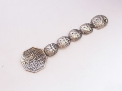 Egyiptomi díszes ezüst kanál.