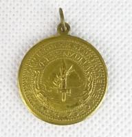 0S524 Antik irredenta sportérem aranyérem 30 mm