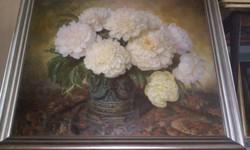 """Paula Golke Nagyméretű olaj-vászon festménye  """" Virágok """""""