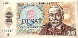 Csehszlovákia 10 korona 1986 UNC