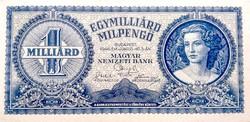 1 Milliárd MILPENGŐ 1946 UNC