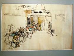 Basch Árpád: Fejedelem előtt (vázlat)