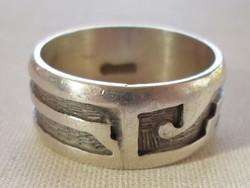 Szép régi nagyméretű uniszex ezüst gyűrű 65-ös