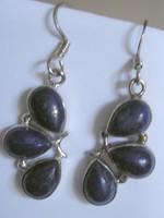 925 ezüst fülbevaló lápisz lazuli kövekkel