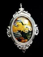 Régi fényképtartó üveglappal