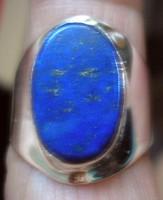 925 ezüst gyűrű, 17,9/56,2 mm lápisz lazuli drágakővel
