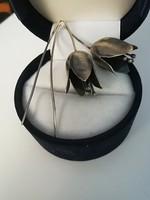 Kézműves ezüst fülbevaló
