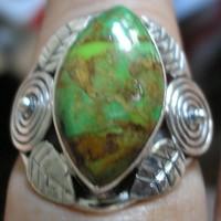 925 ezüst gyűrű, 18,5/58 mm, ausztrál gaspeitével