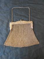 Szecessziós,ezüstözött  színházi táska.Stílusos hölgyeknek.20.század eleje.