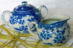 Régi Japán, Nippon Tokusei porcelán cukortartó és kiöntő