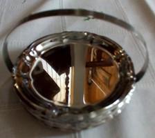 6 db ezüstözött Collini poháralátét, tartójában
