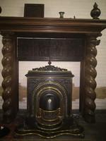 Nagyon ritka,antik,különleges, Francia kandalló kályha!