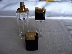 Chanel parfümös üvegek (eau de toilette Chanel 5, vaporisateur)