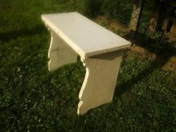 Antik népi pad - vizespad - parasztbarokk vagy bieder stílusú kis ülőke