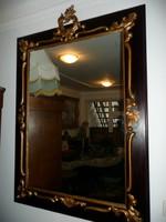 Nagyon nagy, meseszép antik florentin szerű fali tükör kézzel faragott fa díszekkel (NEM gipsz!!!!)