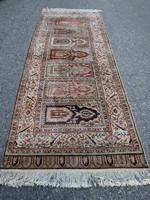 Kayseri gyönyörű kazettás kézi csomózású selyem szőnyeg 303cmx99cm