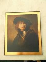 Rembrandt nyomat aranyozott keretben.39x34 cm