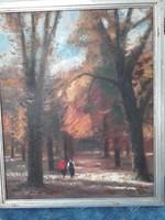 Moldován István :erdő olajfestmény szignóval 75x90 cm
