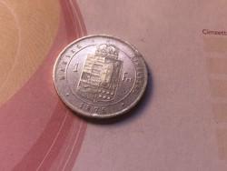 1875 ezüst 1 forint,szép,Ritka!!!