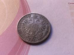 1885 ezüst 1 florin 12,3 gramm 0,900 gyönyörű,ritkább