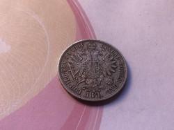 1891 ezüst 1 florin 12,3 gramm 0,900 gyönyörű,ritkább