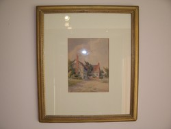 Angol akvarell eladó - XIX század