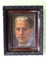 Tápay Lajos- férfi portré önarckép? olaj / farost festmény