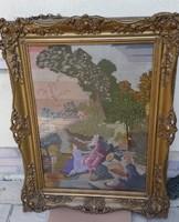 1800-as nagyméretű antik keret és gobelin