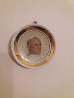 Hollóházi II.János Pál falidísz,dísztányér
