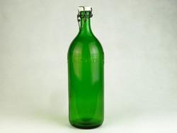 0K569 Régi csatos KRISTÁLY üveg palack