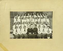 0S935 Régi iskolai fotográfia csoportkép 1939