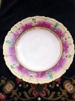 Szecessziós, kézzel festett csodás tányér 25cm