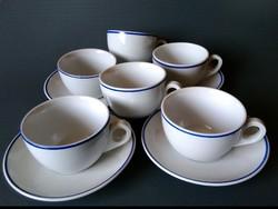6 db Zsolnay teás csésze