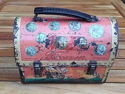 Kalózok kincsesládája - retro, vintage  fém doboz,láda , made in USA