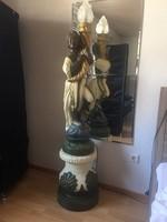 Velencei barok fáklyás állólámpa 161cm magas