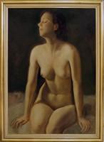 Ismeretlen festő (M/H.V jelzés): Akt