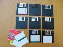 5 db. Floppy-lemez egyben - Verbatim Data Life Plus MF 2HD arany