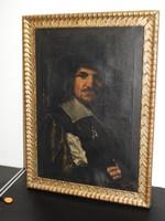 Franz Hals (1580-1666) Flamand barokk portré festő, egyik tanítvány tanulmány festménye! 17.század