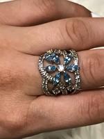 Mesés ezüst gyűrűl 18mm átmero