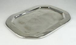 0S975 Antik jelzett ezüstözött alpakka tálca
