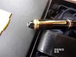Montblanc jubileumi töltőtoll díszdobozban+ bőr tolltartó