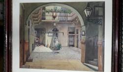 Ajtoni-Bundschuh Ottó akvarell